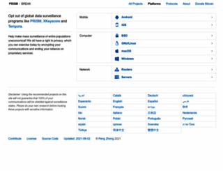 prism-break.org screenshot