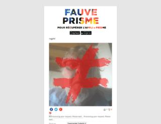 prisme.fauvecorp.com screenshot