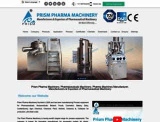 prismpharmamachinery.com screenshot
