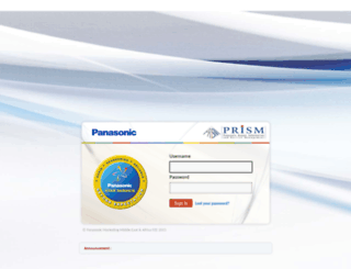 prismscm.panasonic.ae screenshot