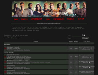 prisonbreakforum.co.uk screenshot
