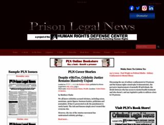 prisonlegalnews.org screenshot