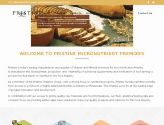 pristineorganicsb2b.com screenshot