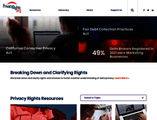 privacyrights.org screenshot