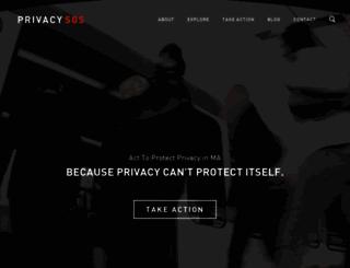 privacysos.org screenshot