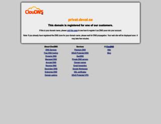 privat.deval.se screenshot
