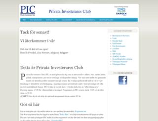 privatainvesteraresclub.se screenshot