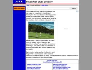 private-golf-clubs.regionaldirectory.us screenshot
