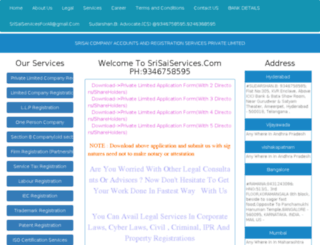 private-limited-company-registration-hyderabad.srisaiservices.com screenshot