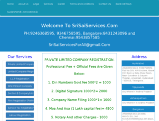 private-limited-company-registration-kolkata.srisaiservices.com screenshot