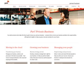 privatebusiness.pwc.co.nz screenshot