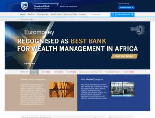 privateclients.standardbank.com screenshot
