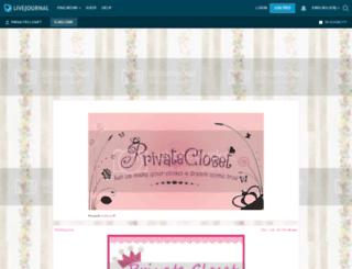 privatecloset.livejournal.com screenshot