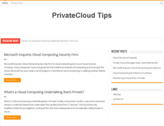 privatecloudtips.com screenshot