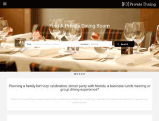 privatedining.com.au screenshot