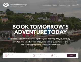 privatehousestays.com screenshot