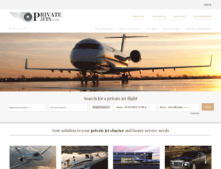 privatejets.co.uk screenshot
