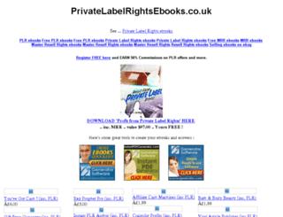 privatelabelrightsebooks.co.uk screenshot