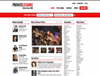 privatelessons.com screenshot