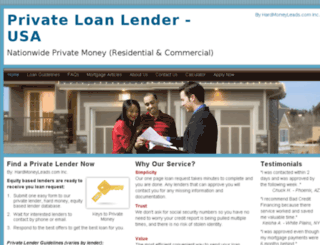 privateloanlender.com screenshot