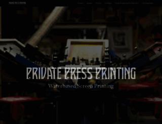 privatepressprinting.ca screenshot