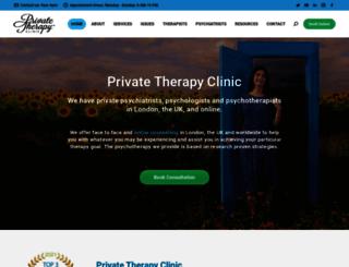 privatetherapyclinic.co.uk screenshot