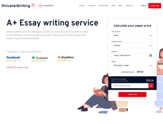 privatewriting.com screenshot