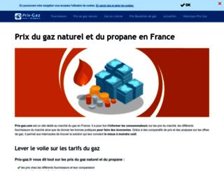 prix-gaz.fr screenshot