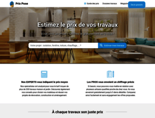 prix-pose.com screenshot