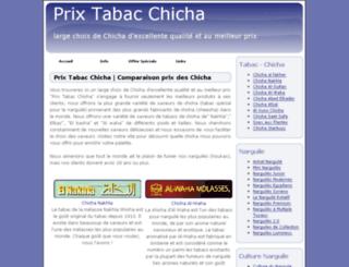 prix-tabac-chicha.com screenshot