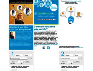 prixaukilo.com screenshot