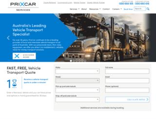 prixcar.com.au screenshot