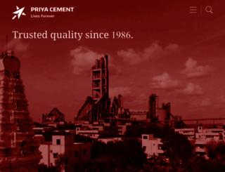 priyacement.com screenshot
