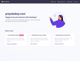 priyadubey.com screenshot