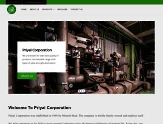 priyalcorporation.com screenshot