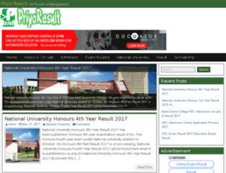 priyoresult.com screenshot