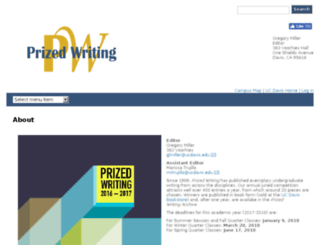 prizedwriting.ucdavis.edu screenshot