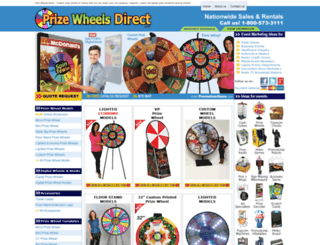 prizewheelsdirect.com screenshot