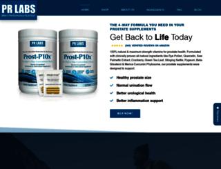 prlaboratories.com screenshot