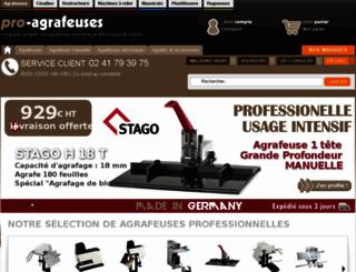pro-agrafeuses.com screenshot
