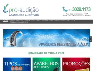 pro-audicao.com.br screenshot