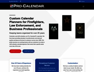 pro-calendar.com screenshot