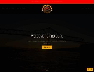 pro-cure.com screenshot