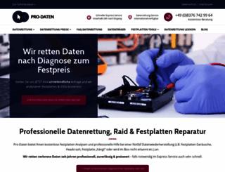 pro-datenrettung.net screenshot