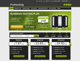 pro-hosting.reseller-hosting-themes.com screenshot