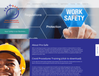 pro-safe.co.za screenshot