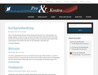 pro-und-kontra.info screenshot