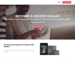 pro.deezer.com screenshot