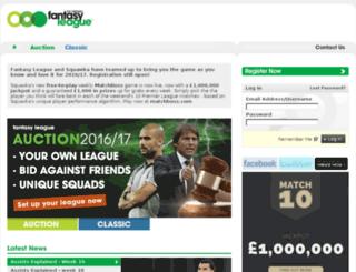 pro.fantasyleague.com screenshot