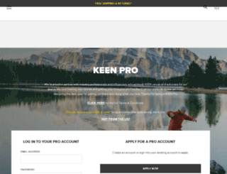 pro.keenfootwear.com screenshot